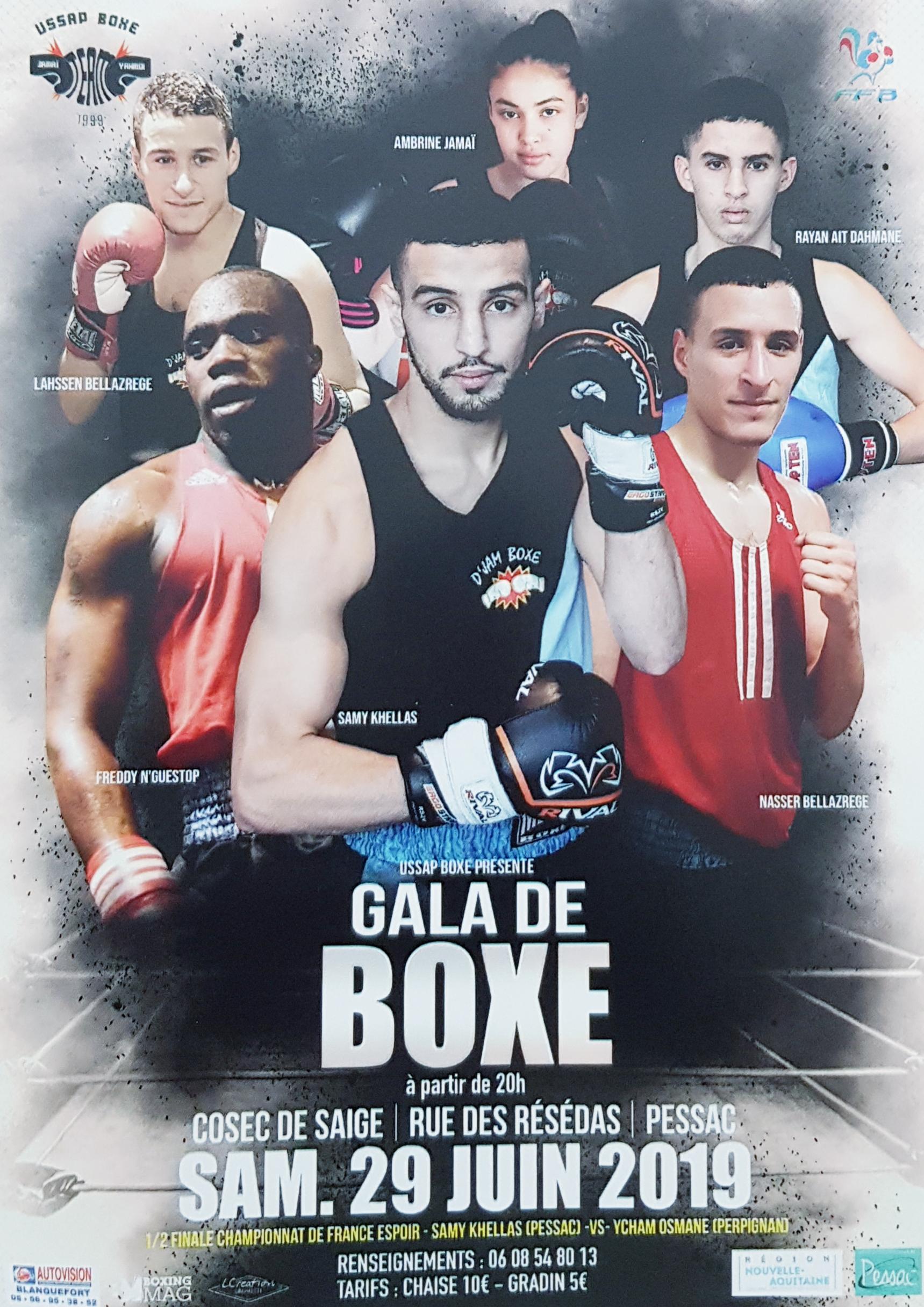 Gala de boxe – 29 Juin 2019
